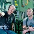 Director James Cameron and actor Sam Worthington discuss a scene.