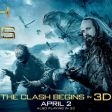 A Clash of the Titans poster promoting its 3D run.
