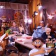 The first officially released still shows the new Muppet, Walter (holding iPhone).